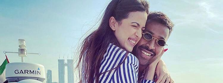 Cricketer Hardik Pandya with his fiance Natasa Stankovic