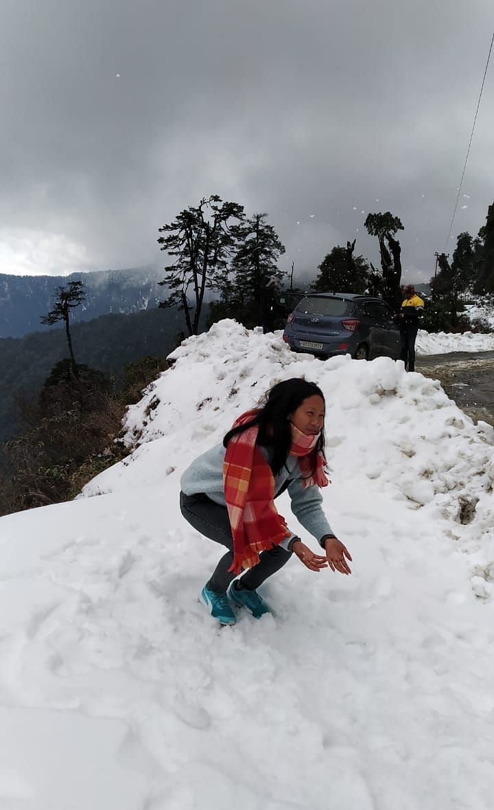 A five-fold jump has been recorded in the number of tourists after snowfall at Mayodia in Arunachal Pradesh