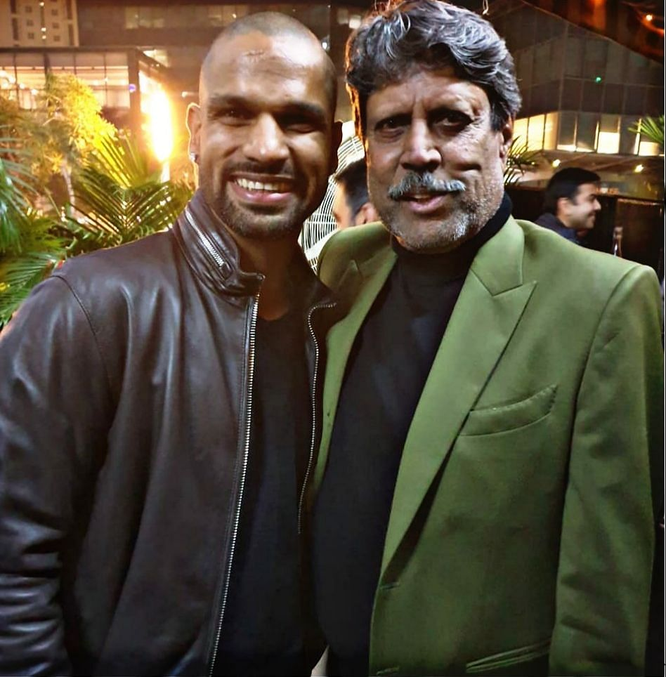 Shikhar Dhawan (left) with Kapil Dev. EastMojo wishes Dev a very happy birthday as the cricket icon is celebrating his 61st birthday on Tuesday