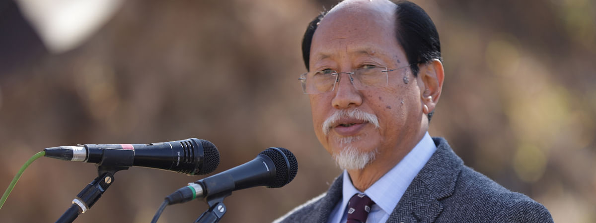 Nagaland chief minister Neiphiu Rio addressing the 72nd general session of the United Sangtam Students' Conference at Seyochung village in Kiphire district on Wednesday