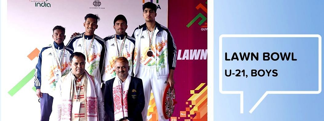 Surajit Buragohain bags gold in Lawn Bowl in the category of under-21 Boys