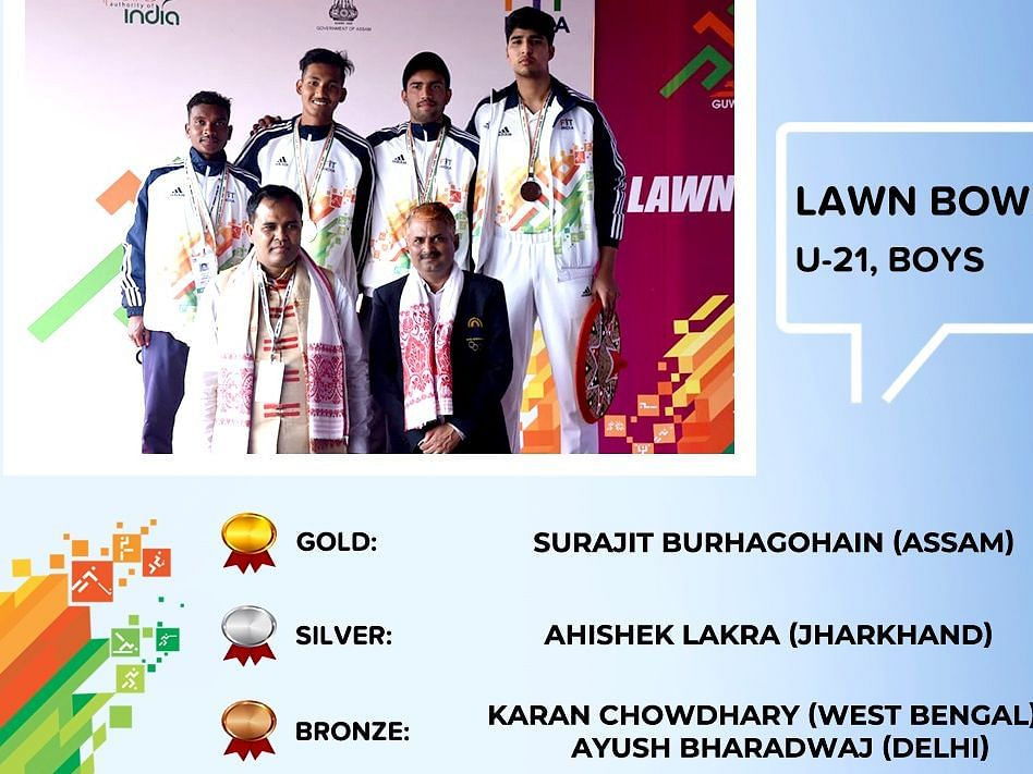 Khelo India Youth Games: Assam lad Surajit bags gold in lawn bowl