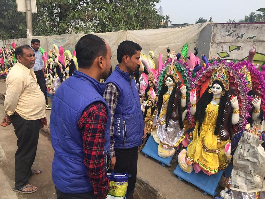 Preparations are on for the Puja celebrations