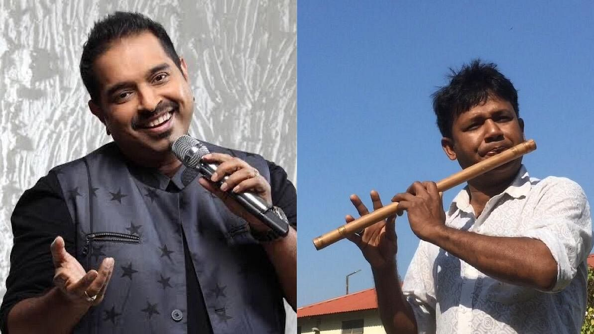 A video that Shankar Mahadevan (left) shared of flutist Dilip Hira's performance has already got 2.4 million views with over 96,000 likes on Facebook and counting