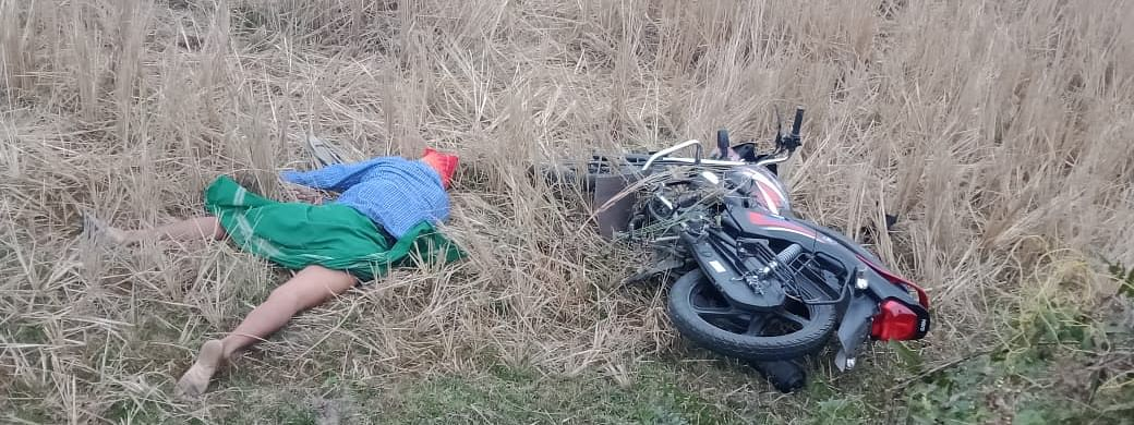 The victim's body was found in a paddy field on Friday