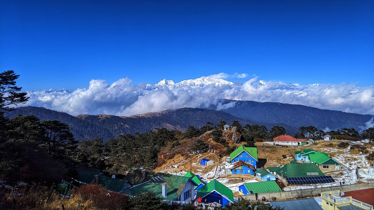 Sandakphu, the highest point of the Singalila Ridge in Darjeeling district on the West Bengal-Nepal border