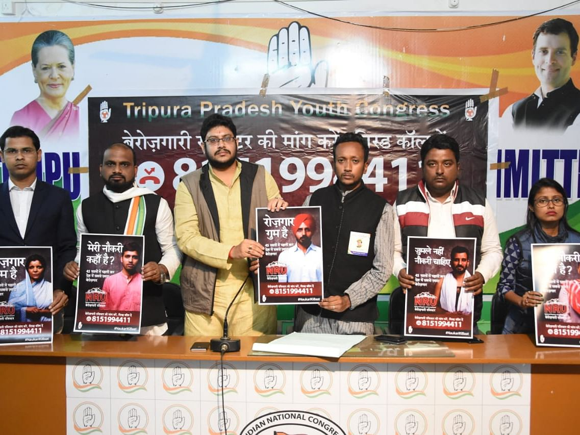 Tripura: Centre using CAA to cover up its failure, says Youth Cong
