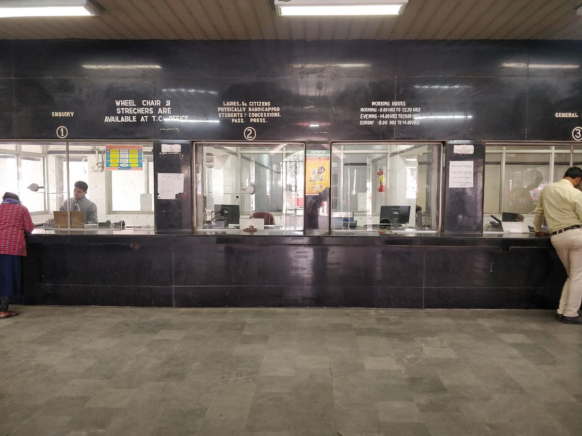 Empty counters at Tinsukia PRS (reservation counter) on Monday