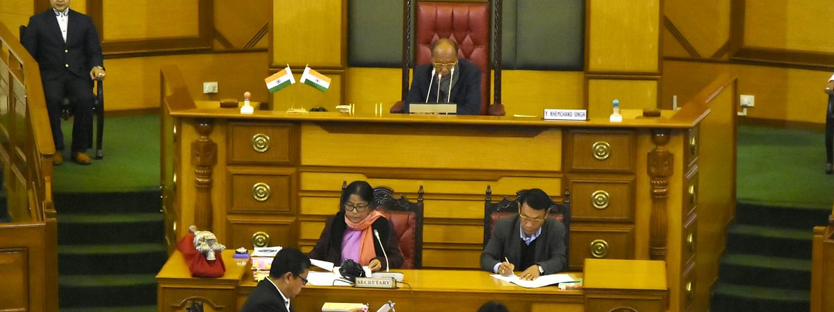 A special one-day session of the 11th Manipur Legislative Assembly being held in Imphal