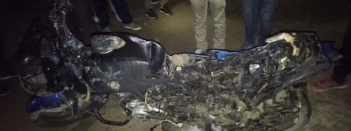 Three motorcycles were set on fire in the attack on the ABSU office in Assam's Baksa district on Tuesday night