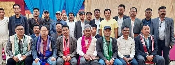 Senior members of all the four factions of NDFB pose for a photo session soon after signing the historic move to unify as one platform in Assam's Chirang district in February, 2020
