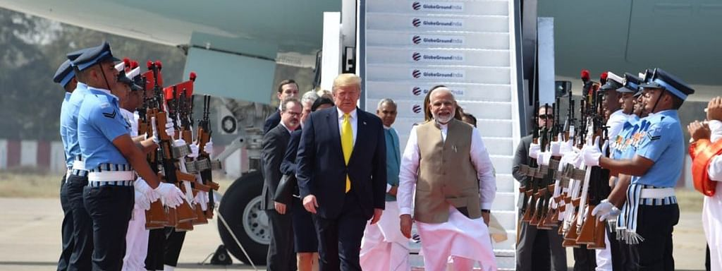 US President Donald Trump (left) with PM Narendra Modi
