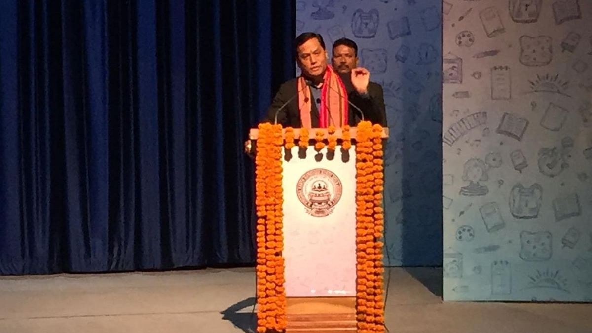 Assam chief minister Sarbananda Sonowal during the function