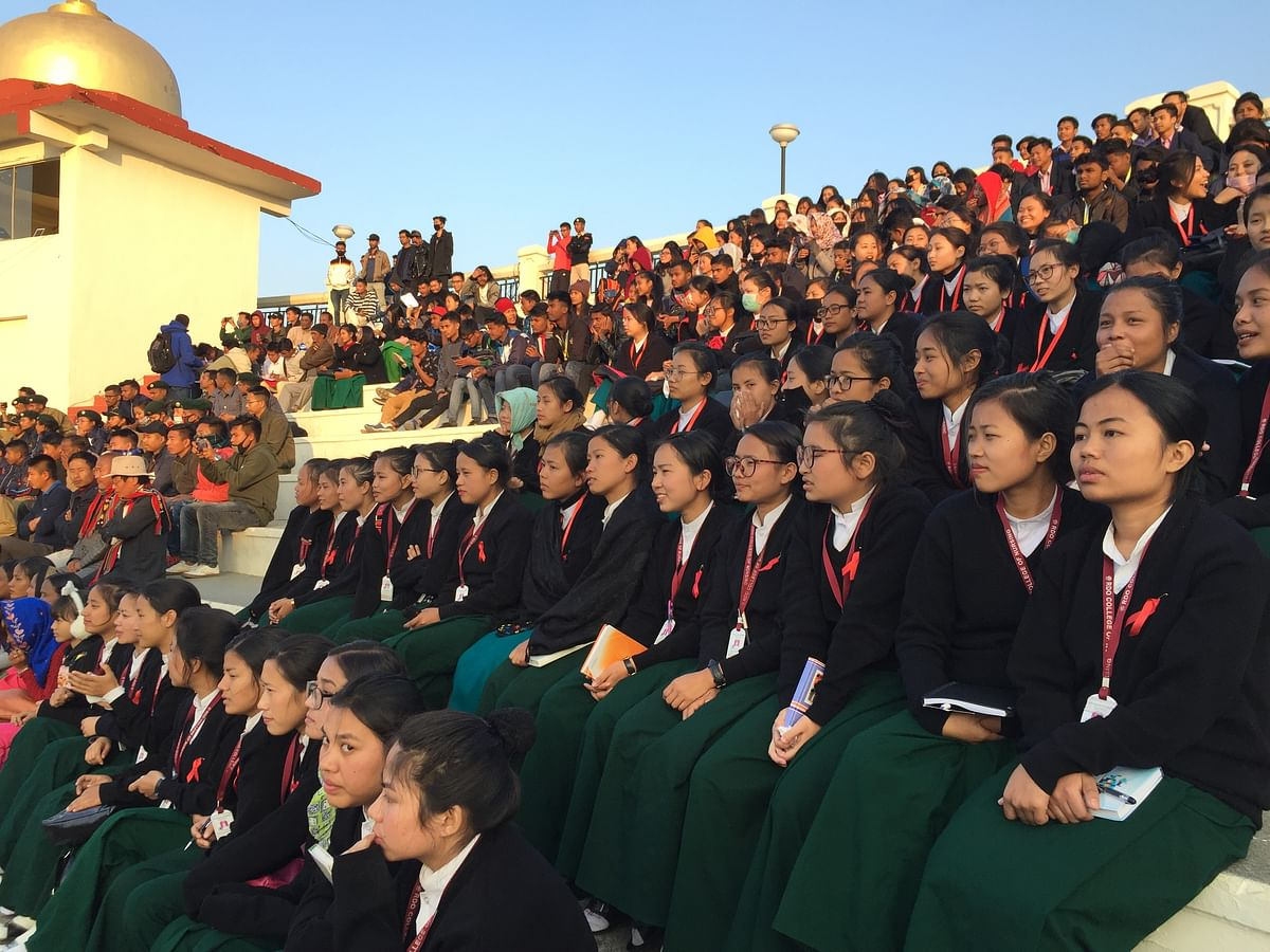 Students from various schools and colleges attended the event in Imphal on Thursday