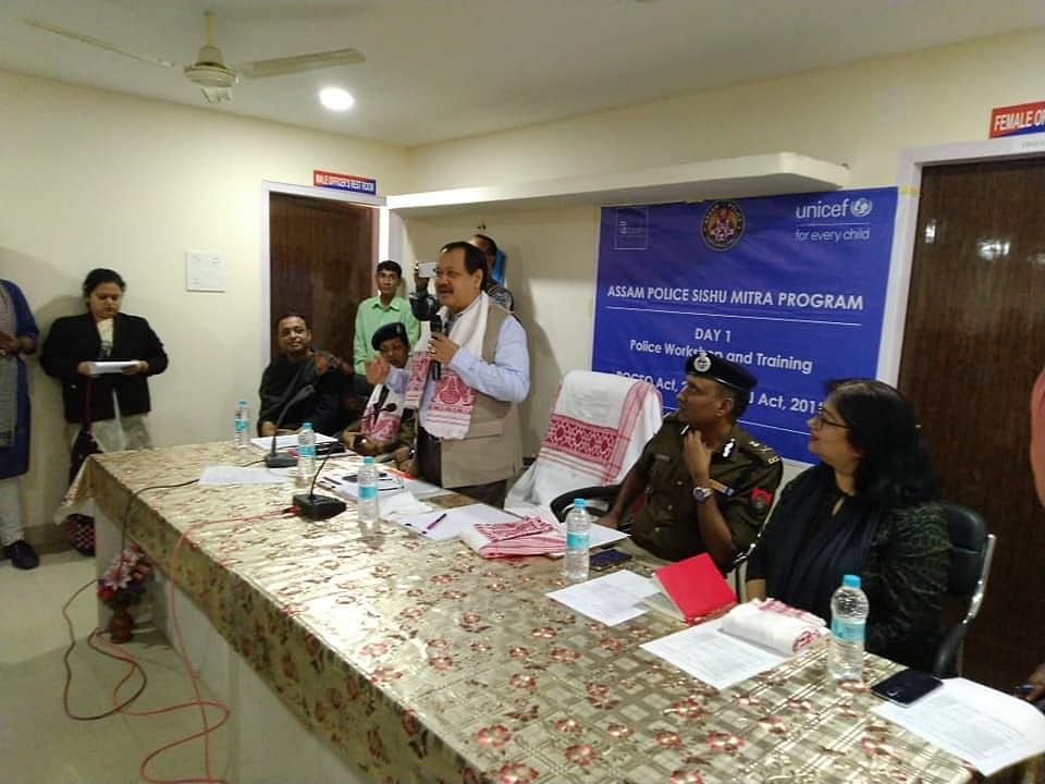 The first  'Handholding Workshop on POCSO for Investigating Officers' conducted at Basistha PS in Guwahati on Thursday