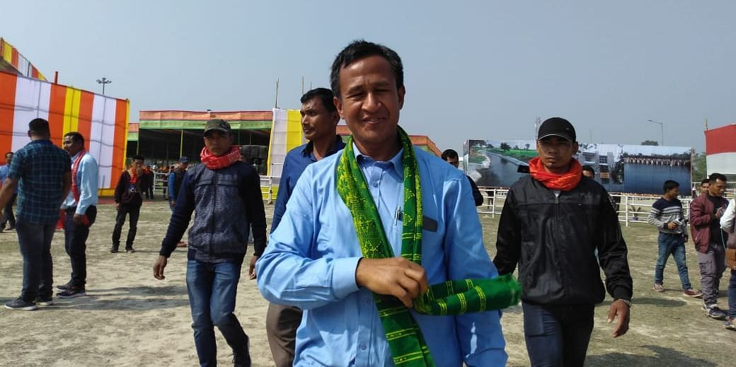 B Ferenga, general secretary of NDFB (S), during the Bodoland Day celebrations in Assam's Kokrajhar district on Monday