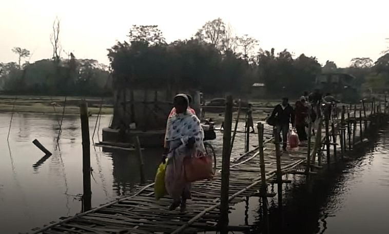 10 yrs after foundation, this Assam village awaits concrete bridge