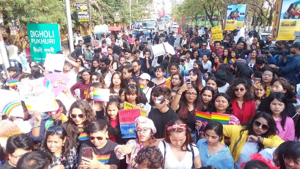 Queer pride walk being held at Dighalipukhuri, Guwahati on Sunday