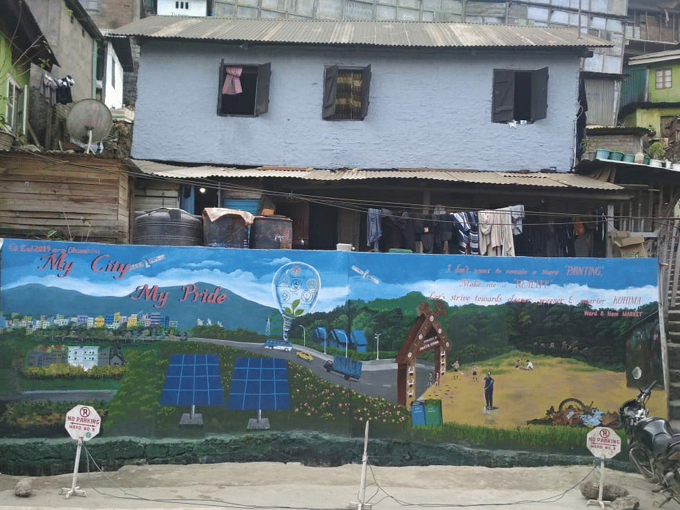 Walls of hope: Kohima gets colourful revamp in race to Smart City
