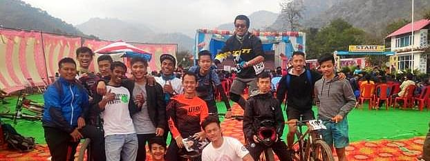 Northeast cyclists at the 16th National Mountain Bike Championships held in Uttarakhand recently