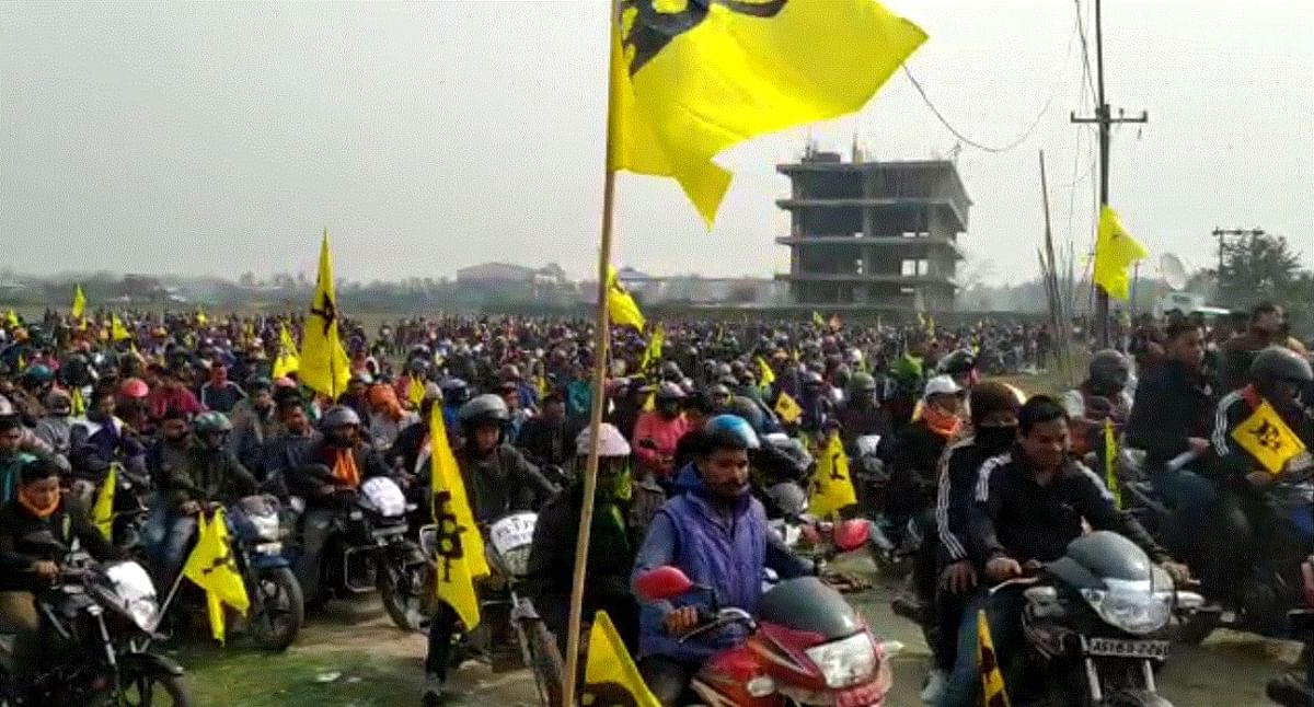 Over 2,000 bikers form different areas of the district participated in the rally