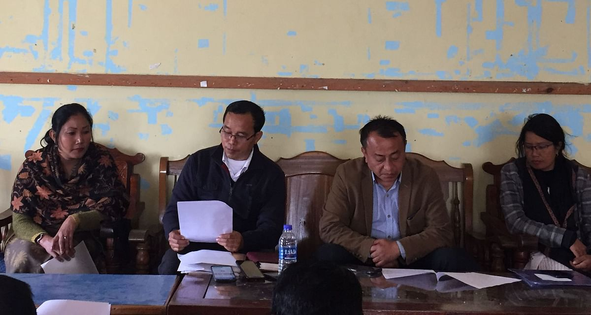 MACR officials addressing media persons at Manipur Press Club in Imphal on Wednesday