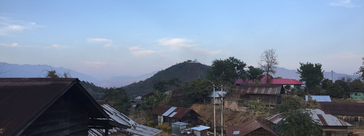 Partial view of Tingsong village in Senapati district
