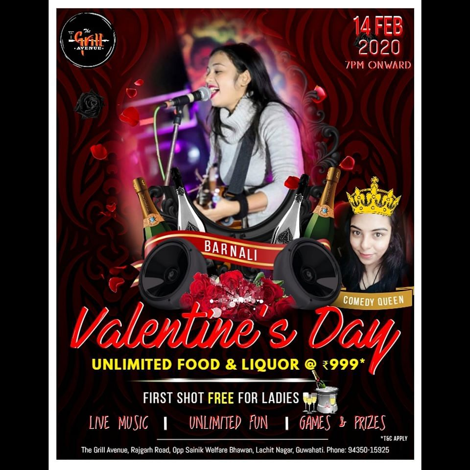 Get ready to hit the floor on this 14th February and make your Valentine's Day memorable with The Grill Avenue