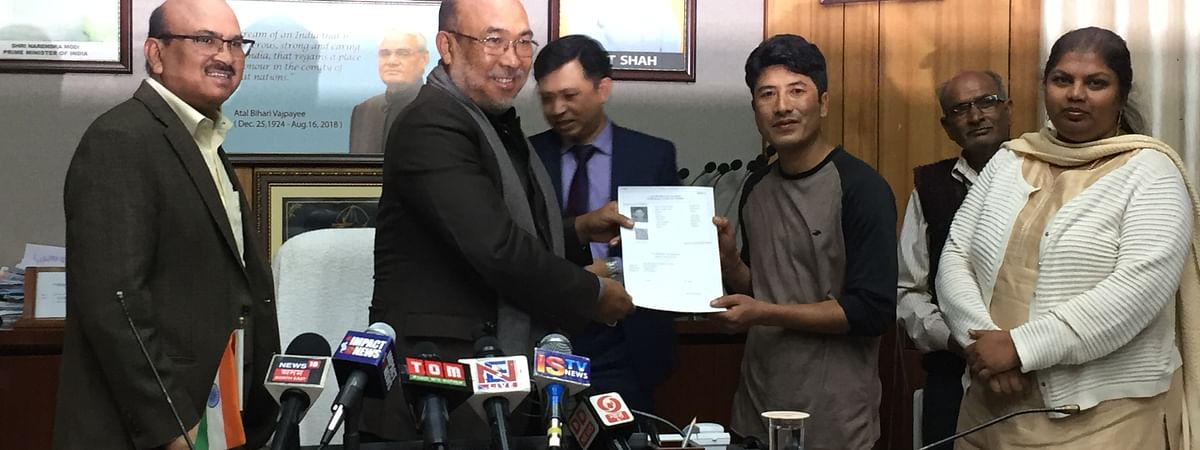 Sumit Das from Assam's Silchar received the first pass generated though the online ILP portal launched by Manipur CM N Biren Singh on Thursday