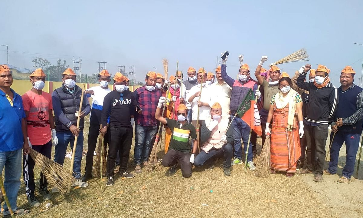 Ensuring Swachhta after the mega Bodo Accord revelry & Modi visit