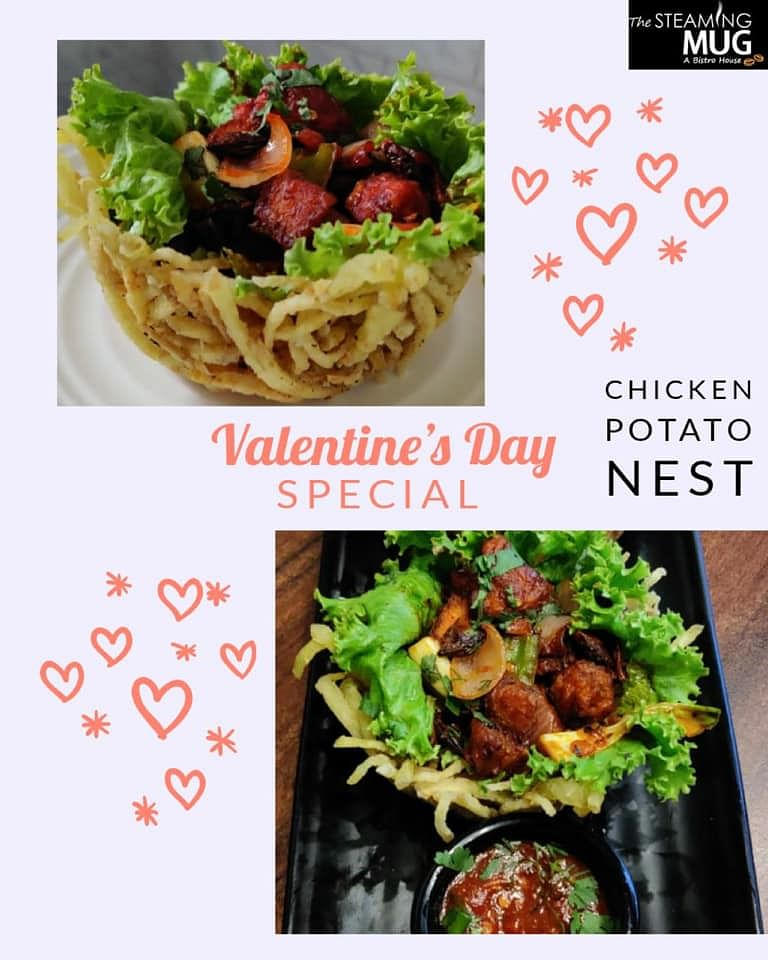 Enjoy Chiken Potato Nest with your Valentine in The Steaming Mug