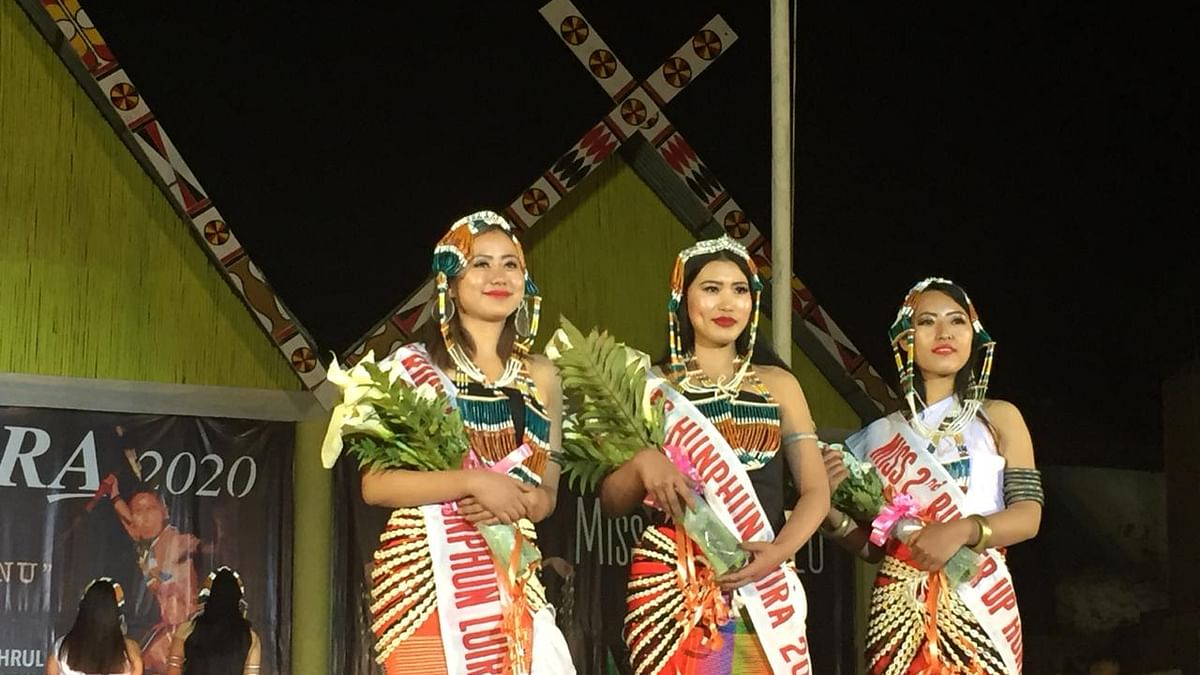 The winners of this year's Hunphun Miss Luira 2020 held in Manipur's Ukhrul district on Wednesday night