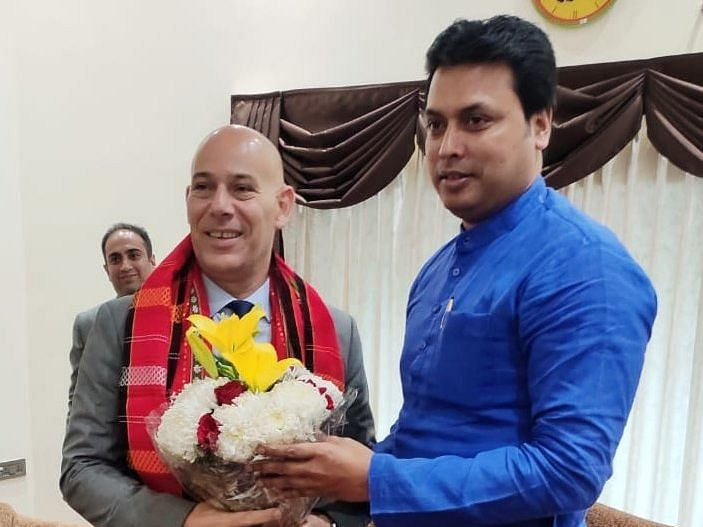 Tripura CM meets Israeli Ambassador, talks areas of co-operation