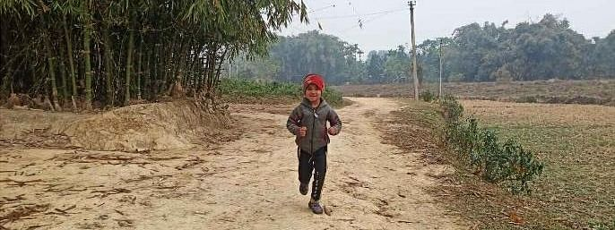 Hailing from Jorhat in Assam, Gitanjali Baruah, 5, runs 15 km every day