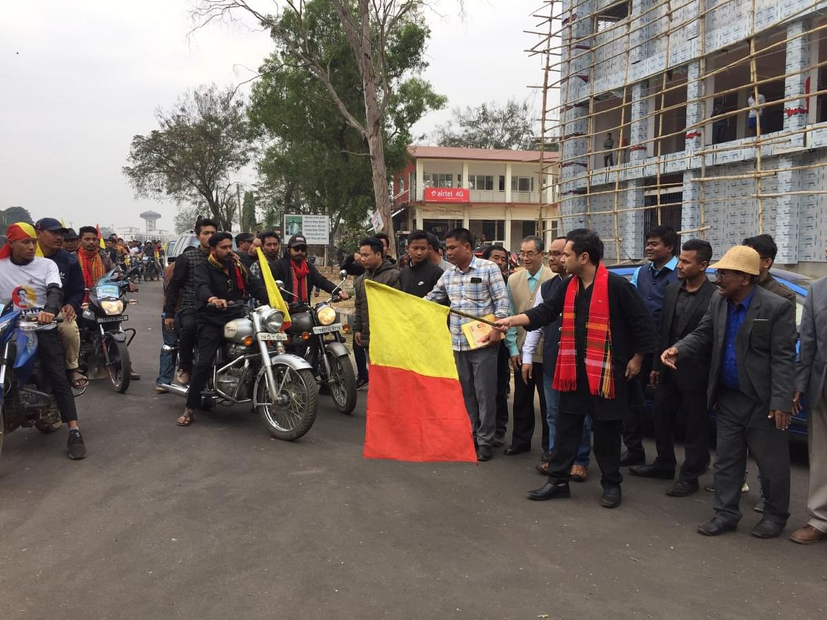 Tripura motorcycle rally to create awareness against CAA