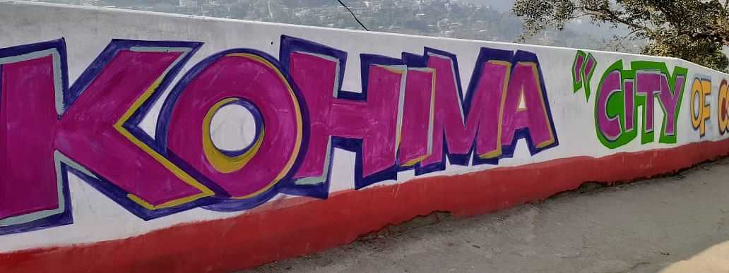Wall painting competitions are underway across 19 wards based on the vision for Kohima Smart City