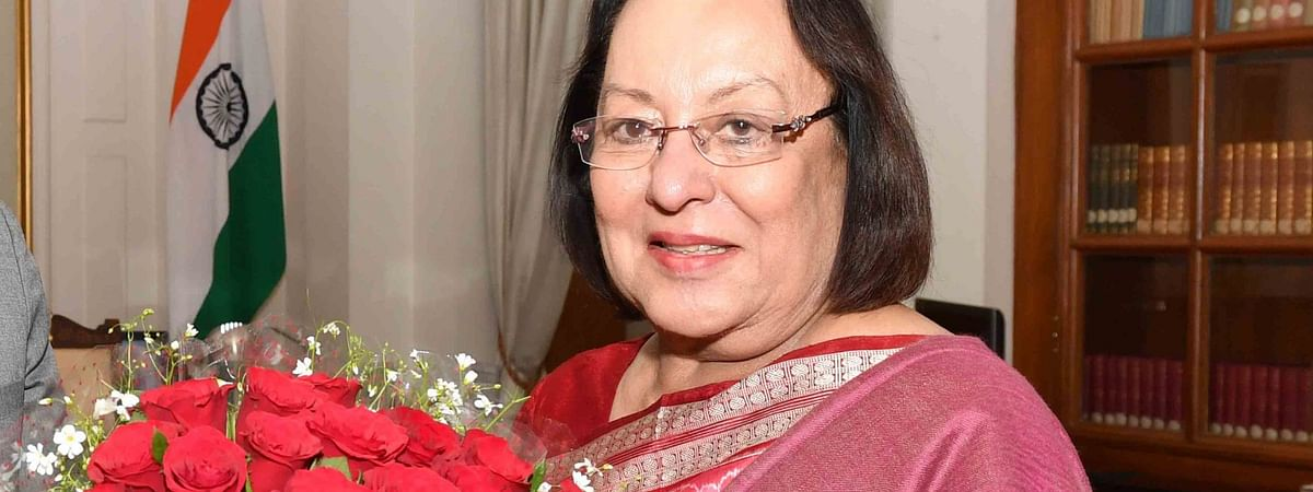 Manipur governor Najma Heptulla addressed the House on Friday