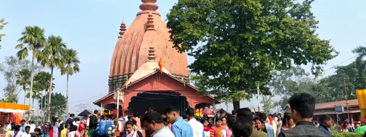 The Siva Doul temple in the historic town of Sivasagar in Assam