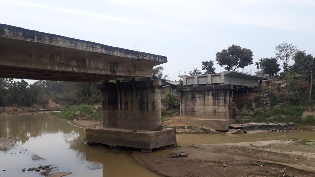 The bridge that has been left unattended for over a decade