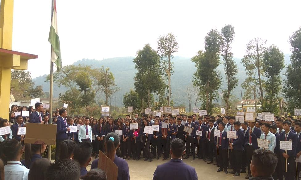 Students boycotted  their classes demanding appointment of teachers in the college