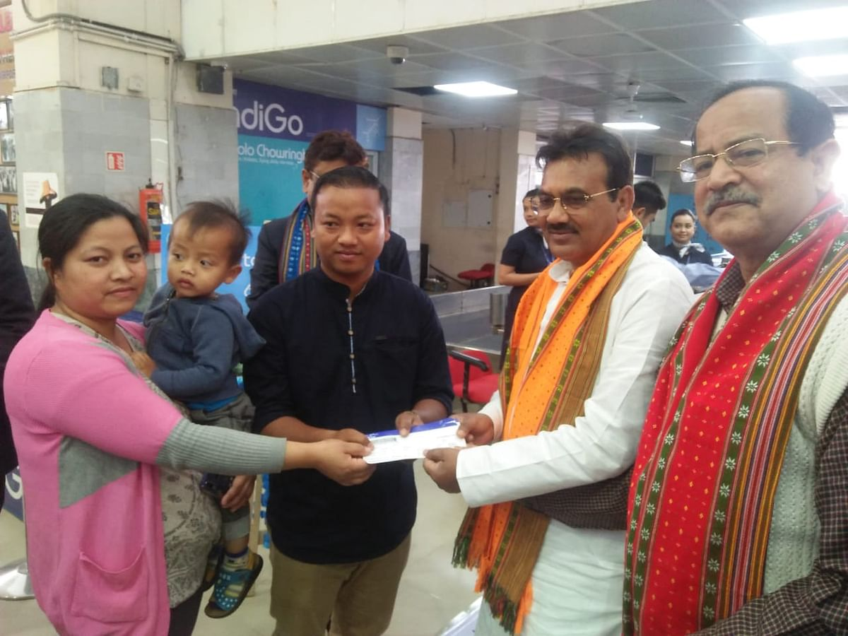 The first passengers to have booked the tickets from Agartala to Mizoram were facilitated by Tripura transport minister Pranajit Singha Roy at MBB Airport on Saturday