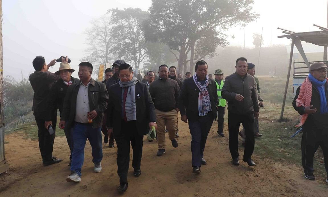 Mizoram minister visits construction site of Integrated Check Post