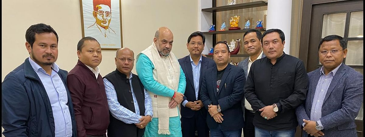 Meghalaya delegation meeting Union home minister Amit Shah in New Delhi on Thursday