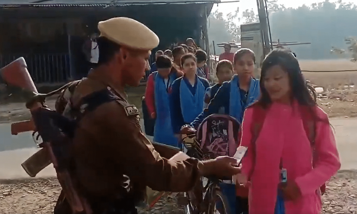Assam cop, who distributed pens to Board exam candidates, rewarded