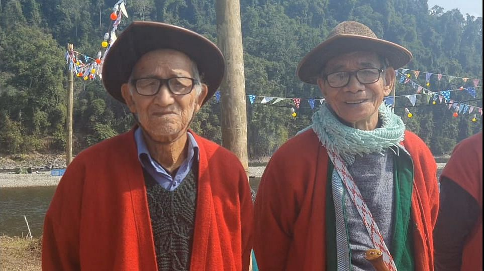 Some of the village elders during the festival