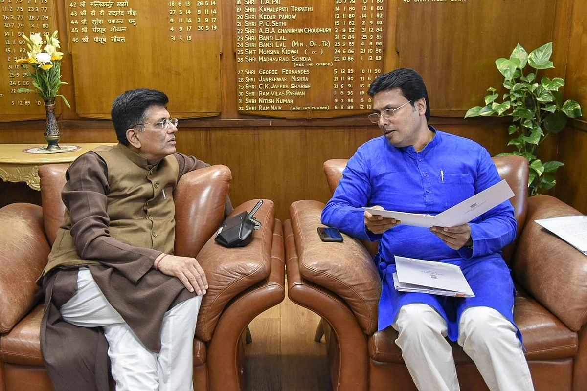 The state government will receive  Rs 1,925 crore from the Asian Development Bank (ADB) for Tripura Power Generation Up-gradation and Distribution Reliability Improvement Project