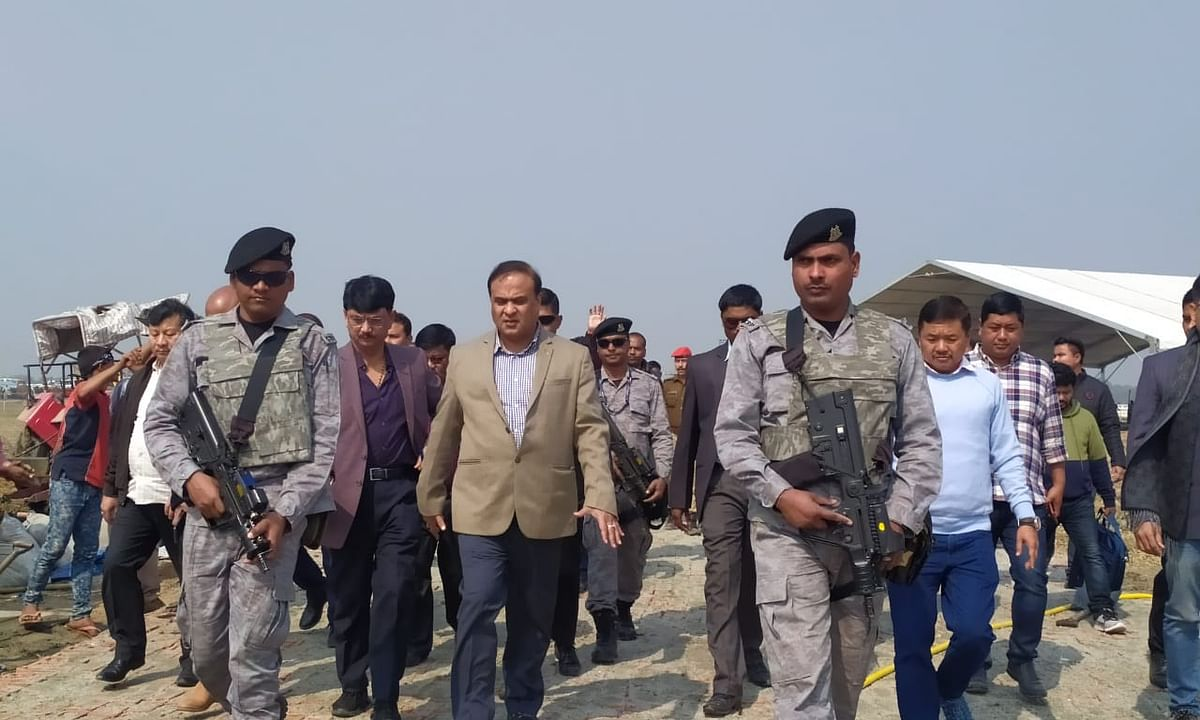 Assam: Himanta Biswa Sarma inspects PM visit venue in Kokrajhar