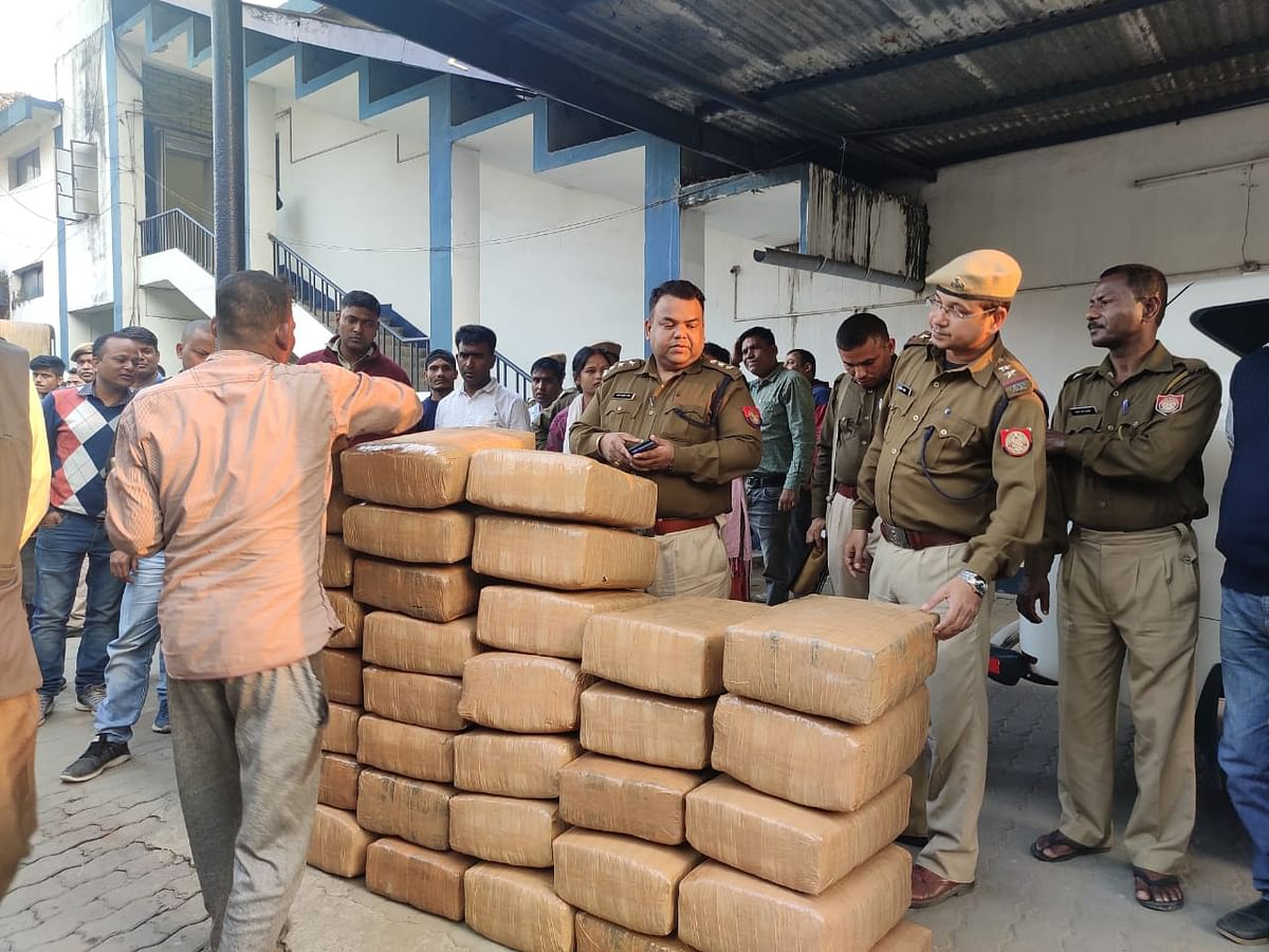 Approximately 600 kg of cannabis was recovered from the oil tanker