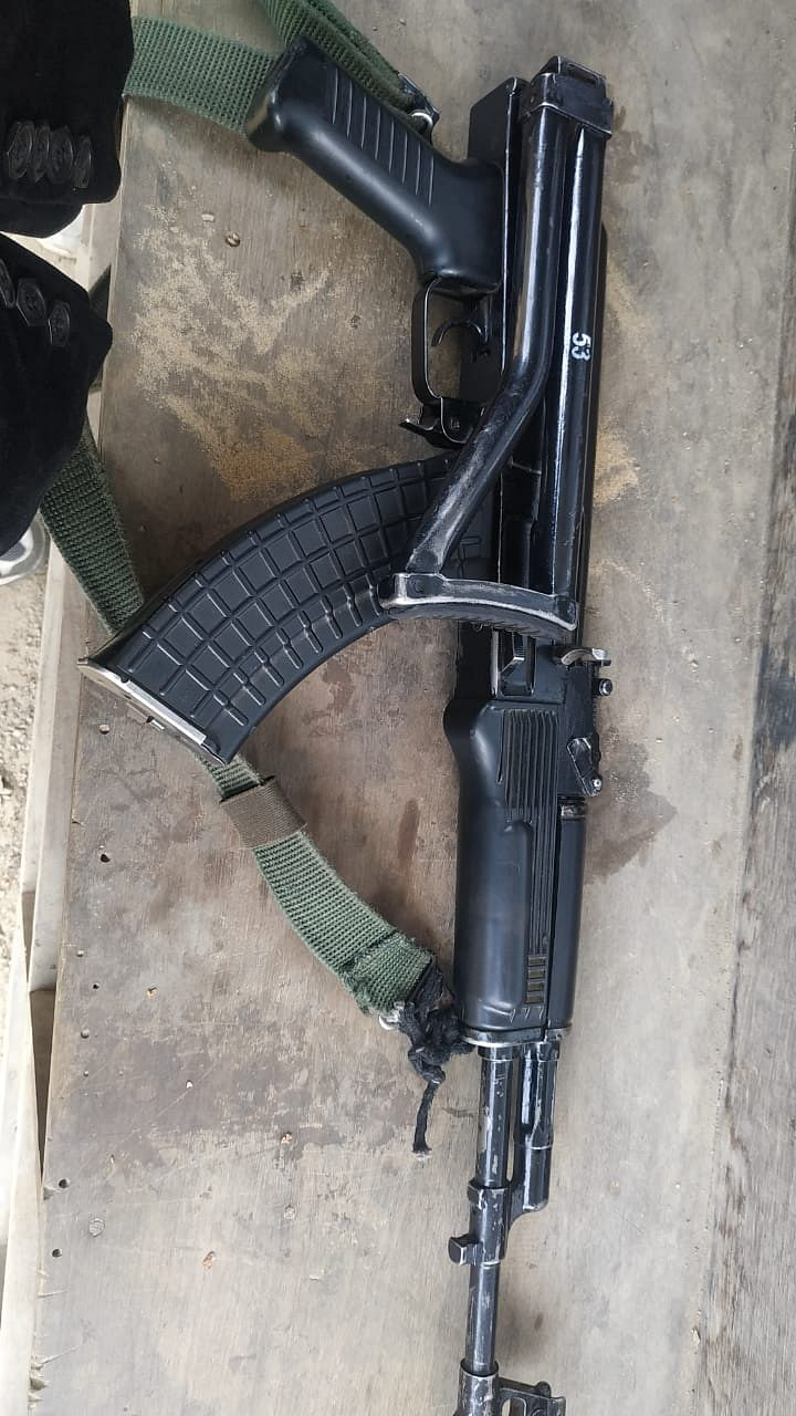 The Assam Rifles Captain's weapon which was allegedly taken away by the Naga Army of GPRN