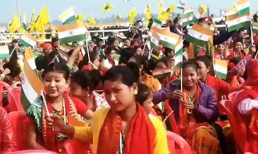 Festive feel in Kokrajhar, lakhs crowd venue to welcome PM Modi